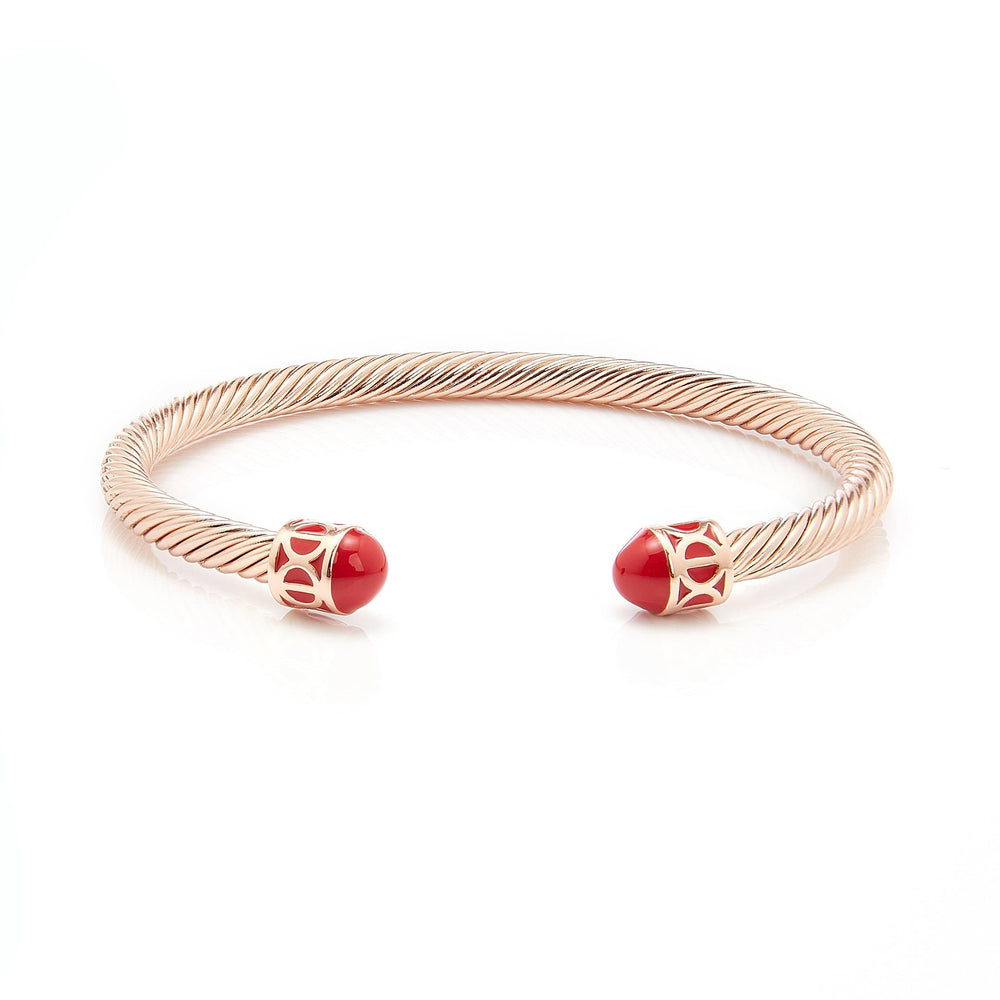 Load image into Gallery viewer, Fervor Montreal Bangle Mondial Bangles- Rose Gold Plated Amsterdam