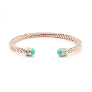 Fervor Montreal Bangle Mondial Bangles- Rose Gold Plated Cannes