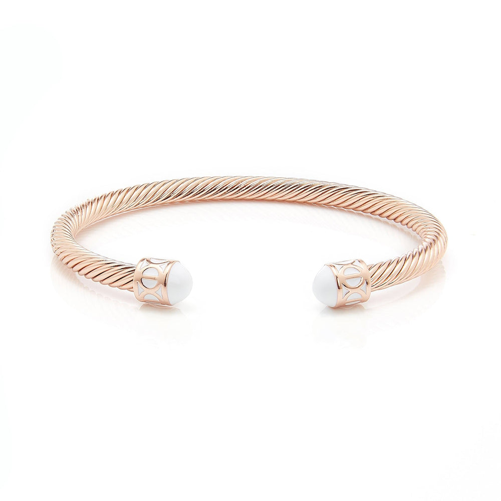 Fervor Montreal Bangle Mondial Bangles- Rose Gold Plated Zanzibar