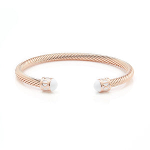 Load image into Gallery viewer, Fervor Montreal Bangle Mondial Bangles- Rose Gold Plated Zanzibar