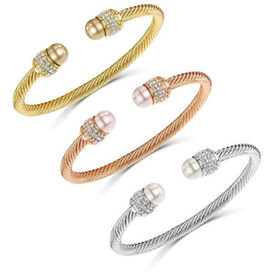 Fervor Montreal Bangle Pearl Bella Bangles