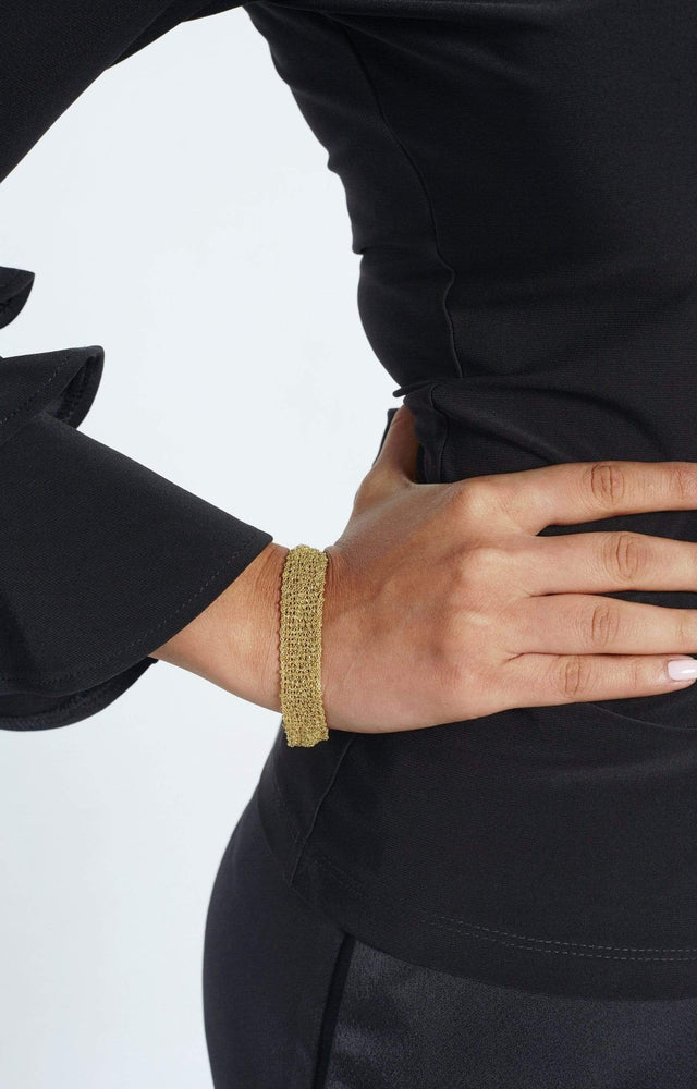 Load image into Gallery viewer, Fervor Montreal Bracelet Ascot- 18K Gold Plated 925 Sterling Silver Scarf Bracelet