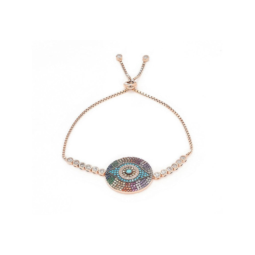 Divine Eye- Rainbow Disc Bracelet