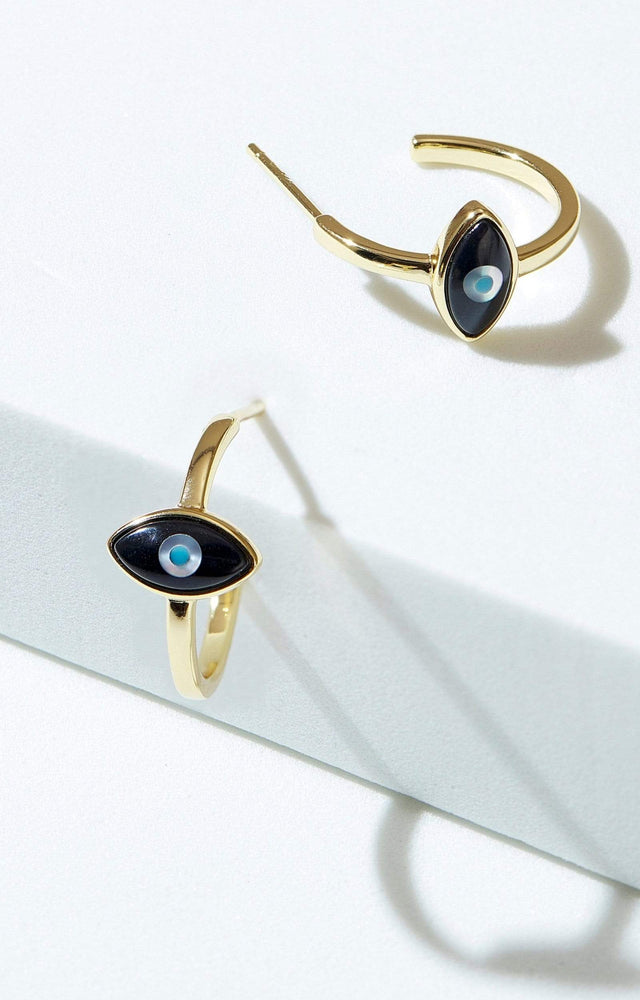 Fervor Montreal Earrings Divine Eye- Evil Eye Hoop Earrings