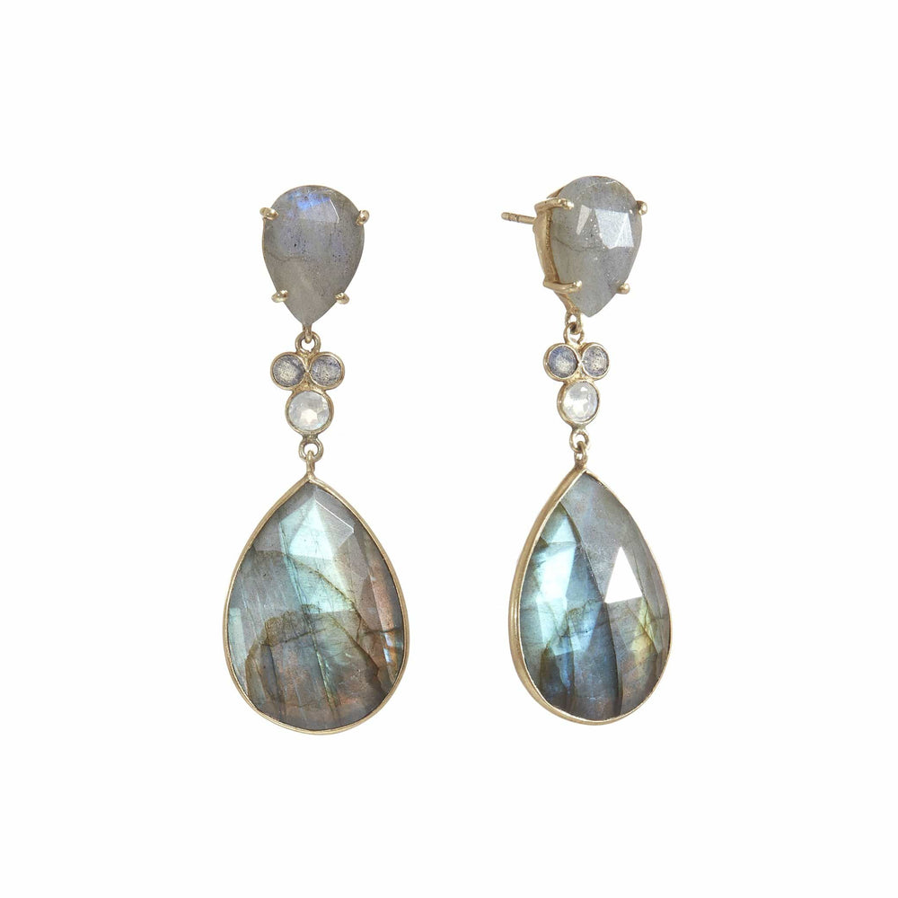 Fervor Montreal Earrings Jewels of Jaipur- Grey Reflections Earrings