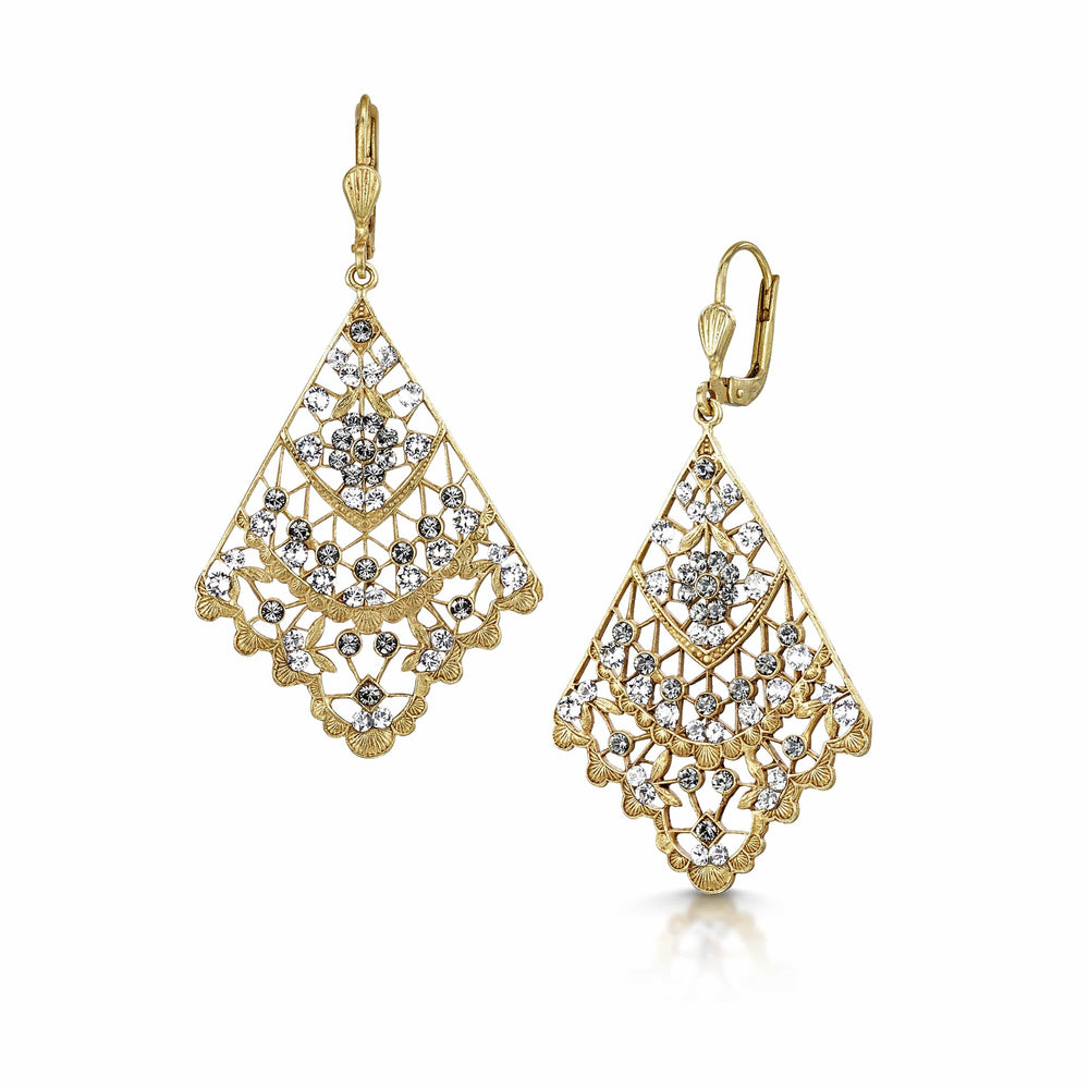 Load image into Gallery viewer, Fervor Montreal Earrings Paris,1919- Black Diamond Fan Earrings