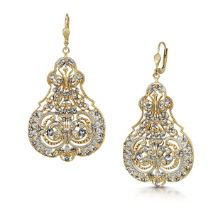 Load image into Gallery viewer, Fervor Montreal Earrings Paris,1919- Silver Shade Victorian Earrings