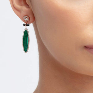 Load image into Gallery viewer, Fervor Montreal Earrings Queen of the Jungle- Black Onyx Earrings