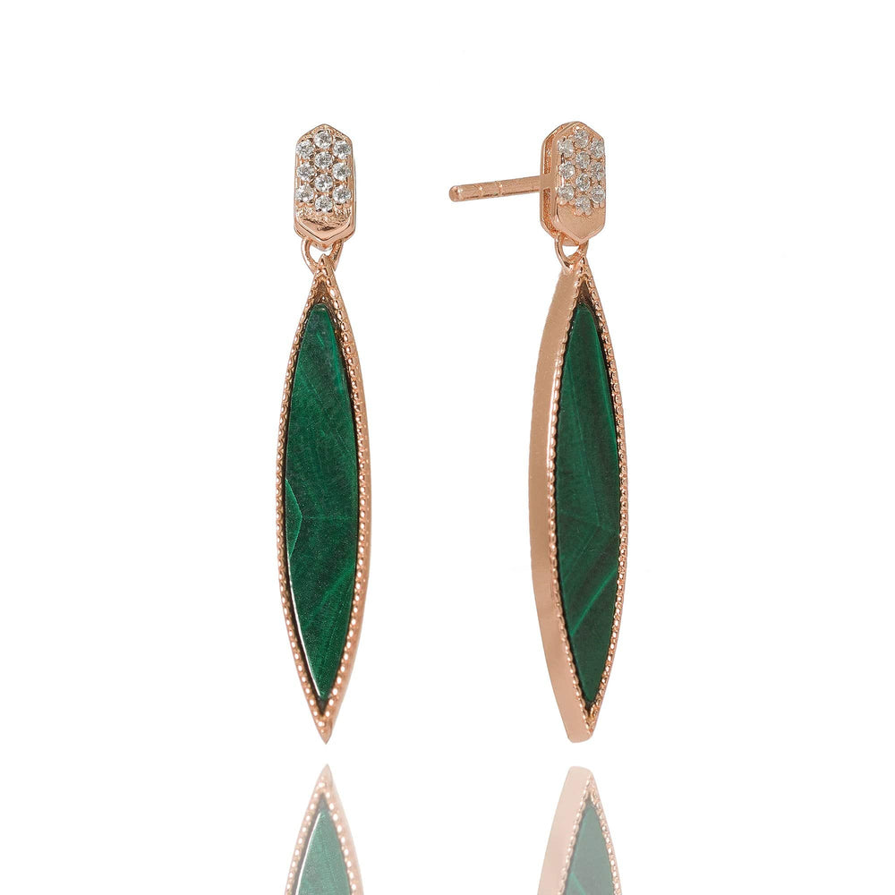 Queen of the Jungle- Slim Oval Earrings