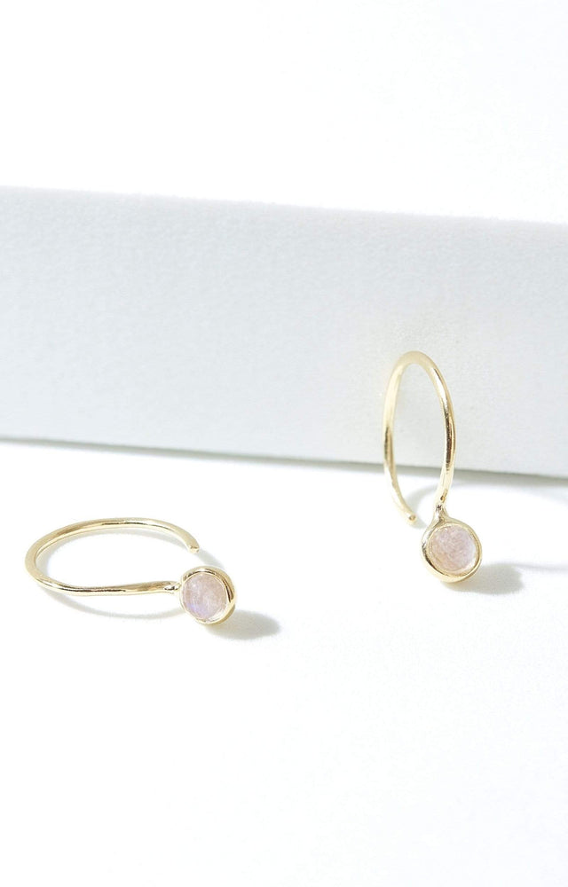 Fervor Montreal Earrings Rainbow Moonstone Petite Earrings