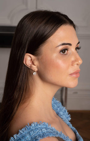 Load image into Gallery viewer, Fervor Montreal Earrings Rose Quartz Cushion Cut Fish Hook Earrings