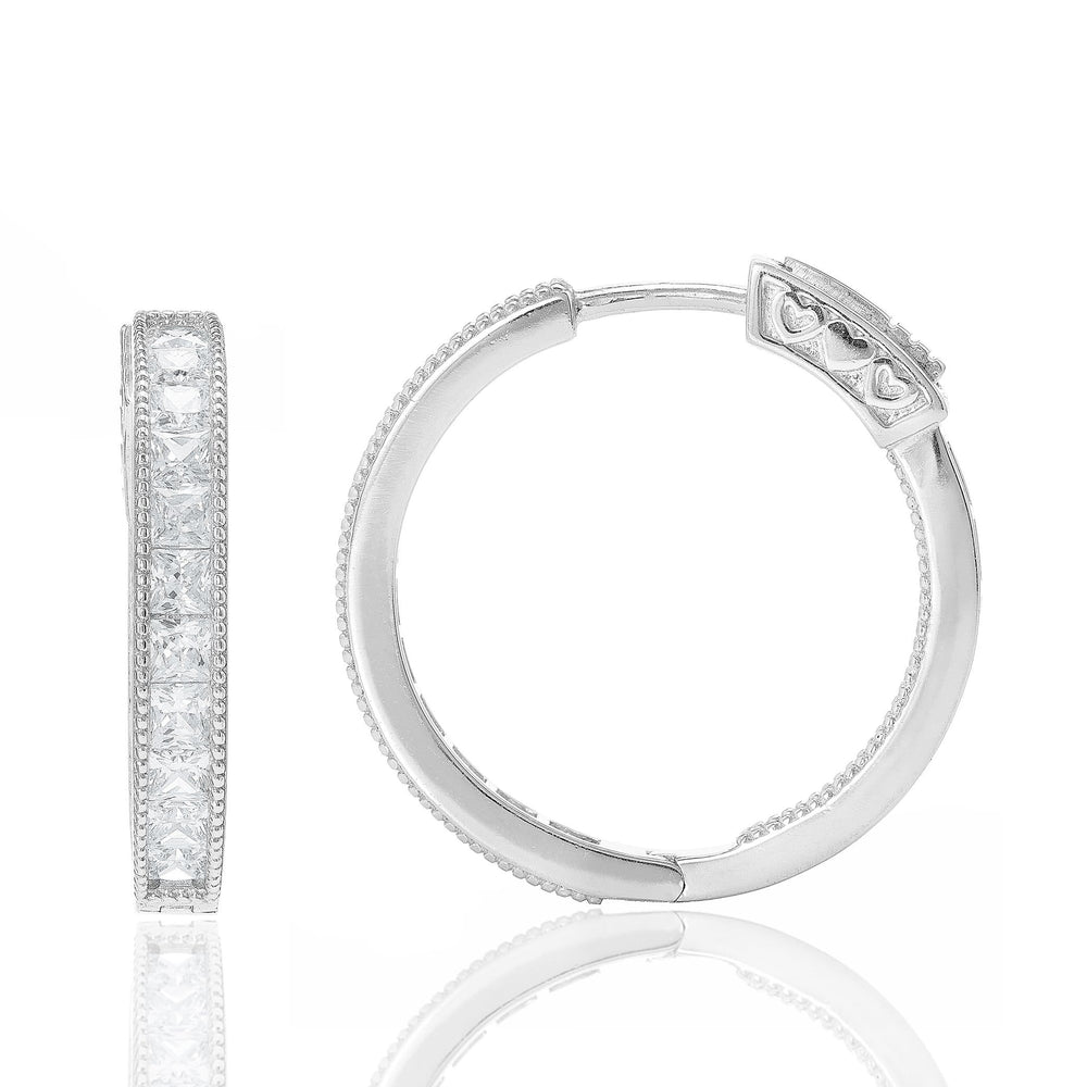 Fervor Montreal Earrings Senorita Hoops- Princess Cut