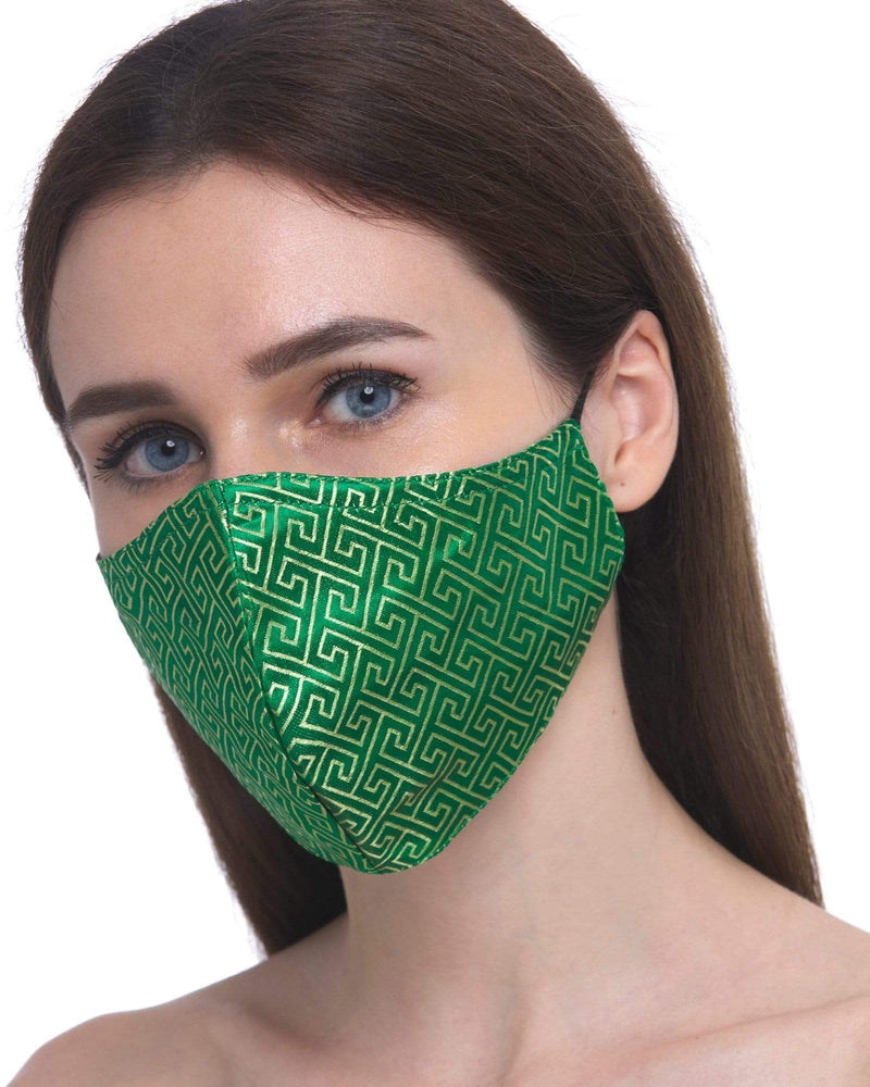 Load image into Gallery viewer, Fervor Montreal Face Mask Maze- Green