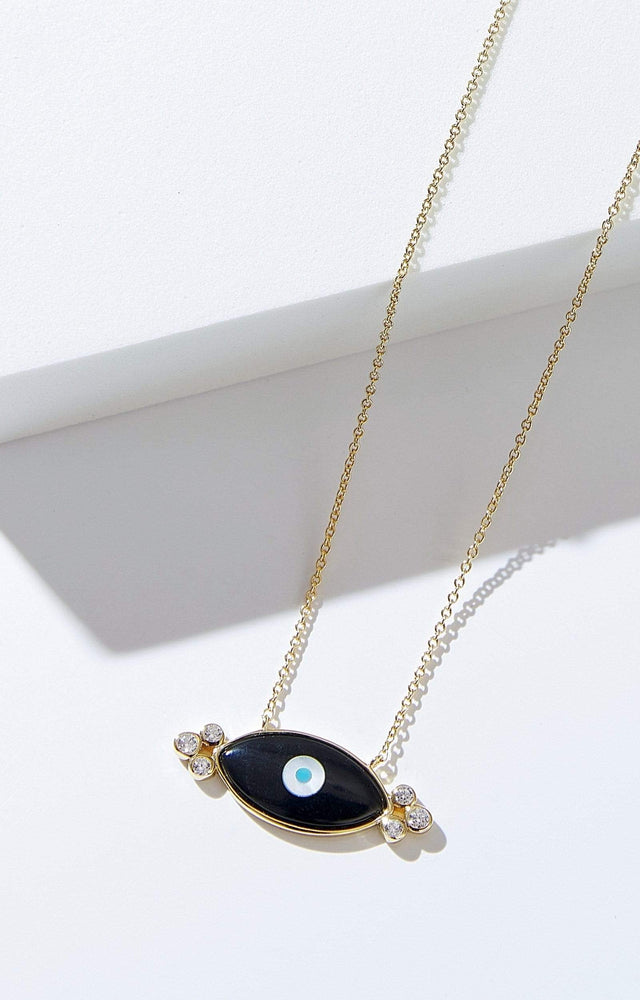 Load image into Gallery viewer, Fervor Montreal Necklace Divine Eye- Double Bubble Evil Eye Necklace