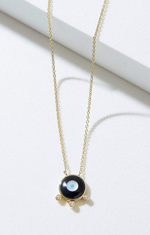 Fervor Montreal Necklace Divine Eye- Floating Bubble Evil Eye Necklace