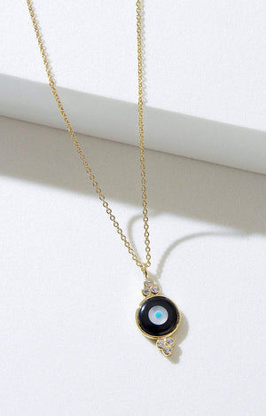 Fervor Montreal Necklace Divine Eye- Round Bubble Evil Eye Necklace
