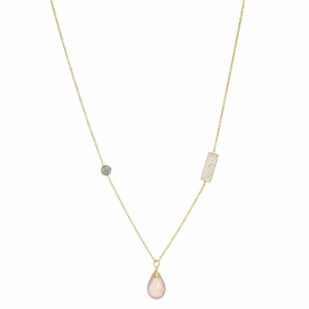 Fervor Montreal Necklace Jewels of Jaipur- Rose Quartz Necklace