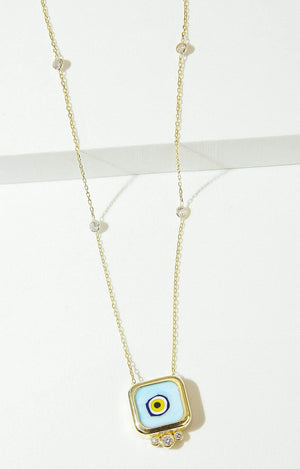Load image into Gallery viewer, Fervor Montreal Necklace Mati Tile Mykonos Necklace