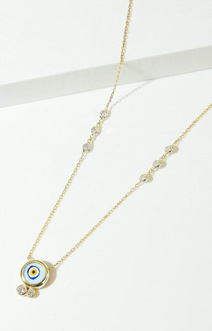 Load image into Gallery viewer, Fervor Montreal Necklace Mati Tile Santorini Necklace