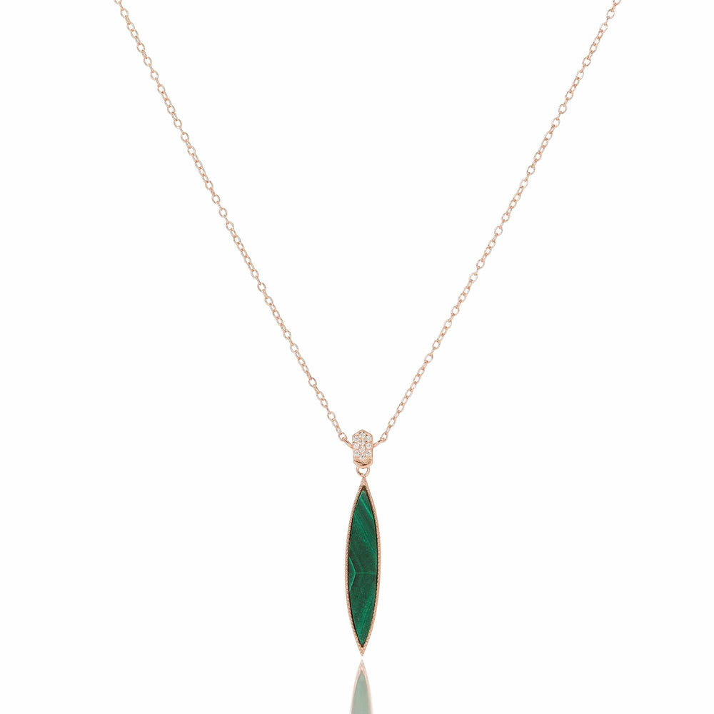 Queen of the Jungle- Slim Oval Necklace