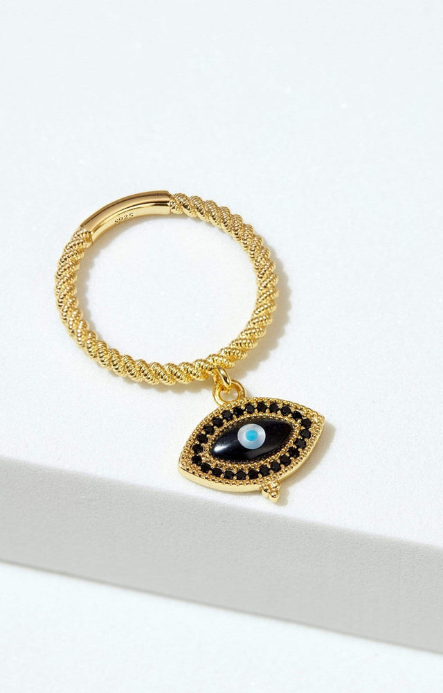 Load image into Gallery viewer, Fervor Montreal Rings Divine Eye- Vintage Evil Eye Charm Ring