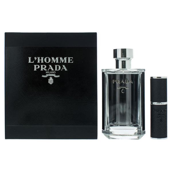 Prada L'Homme Gift Set 100ml EDT + 8ml EDT