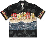 Flip Flop Fiesta Black Hawaiian Shirt