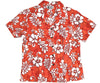 Juicy Tropics Orange Fitted Women's Hawaiian Shirt