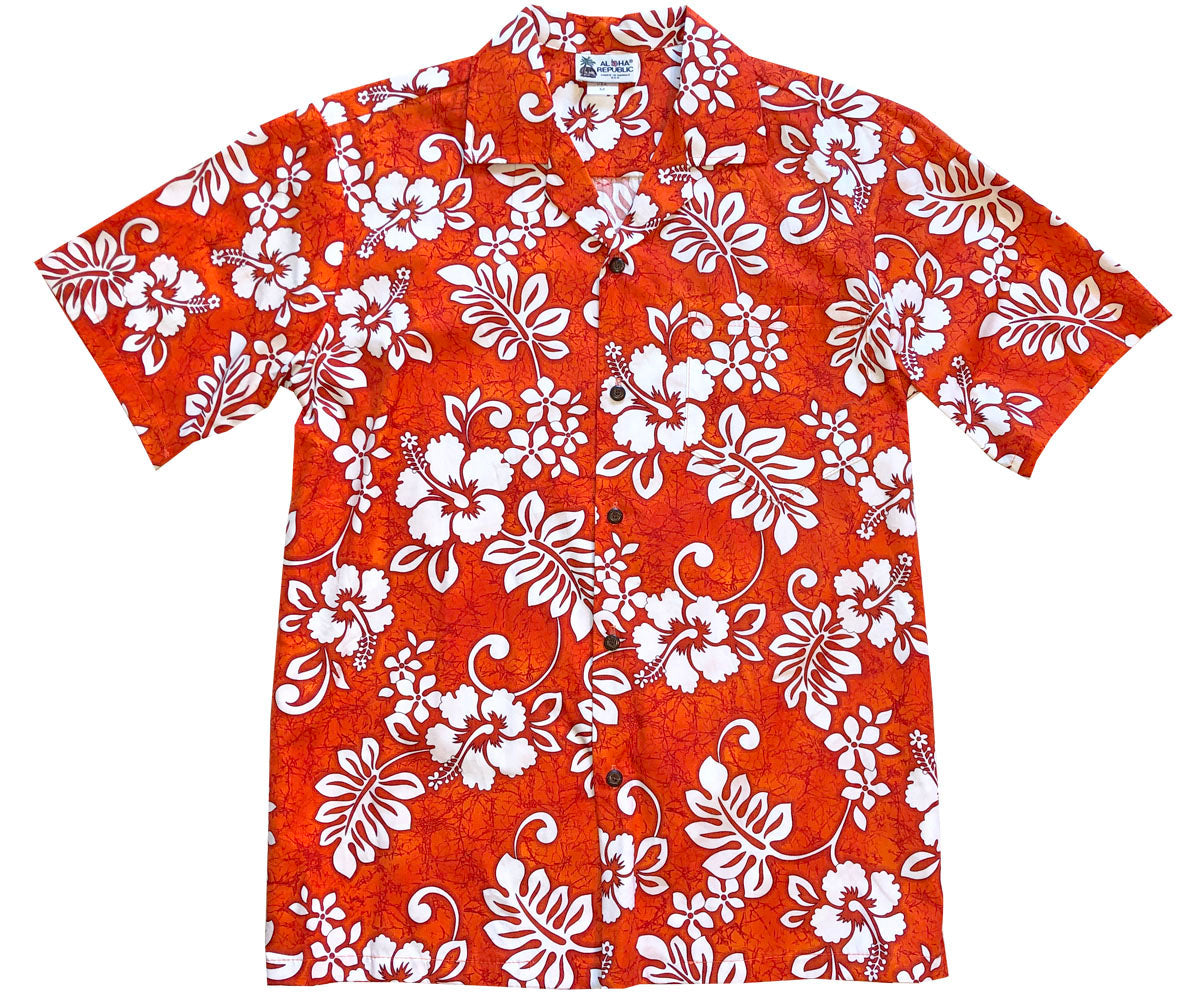 Juicy Tropics Orange Hawaiian Shirt
