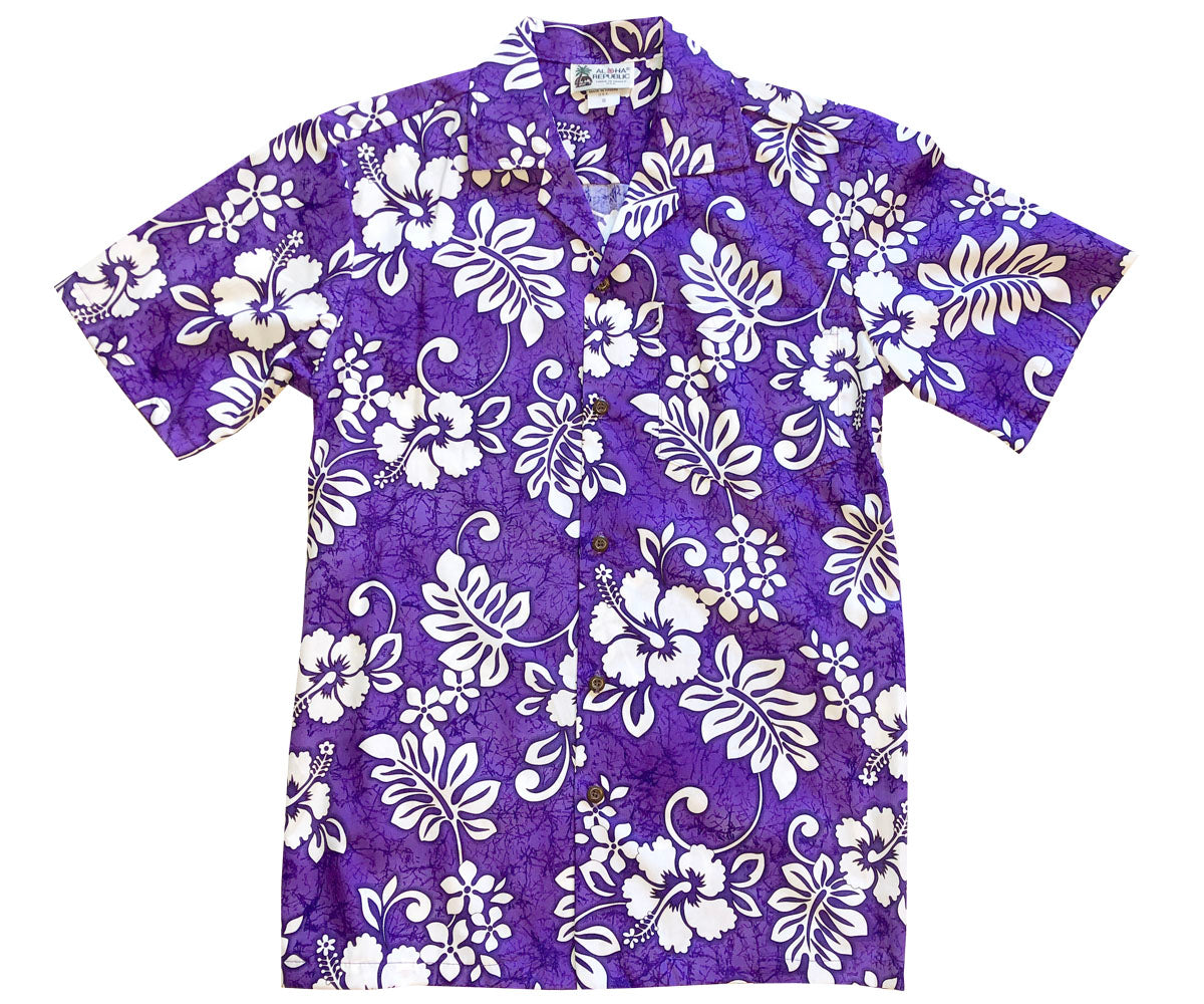 Juicy Tropics Purple Hawaiian Shirt