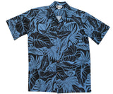 Maui Monarch Black Hawaiian Shirt