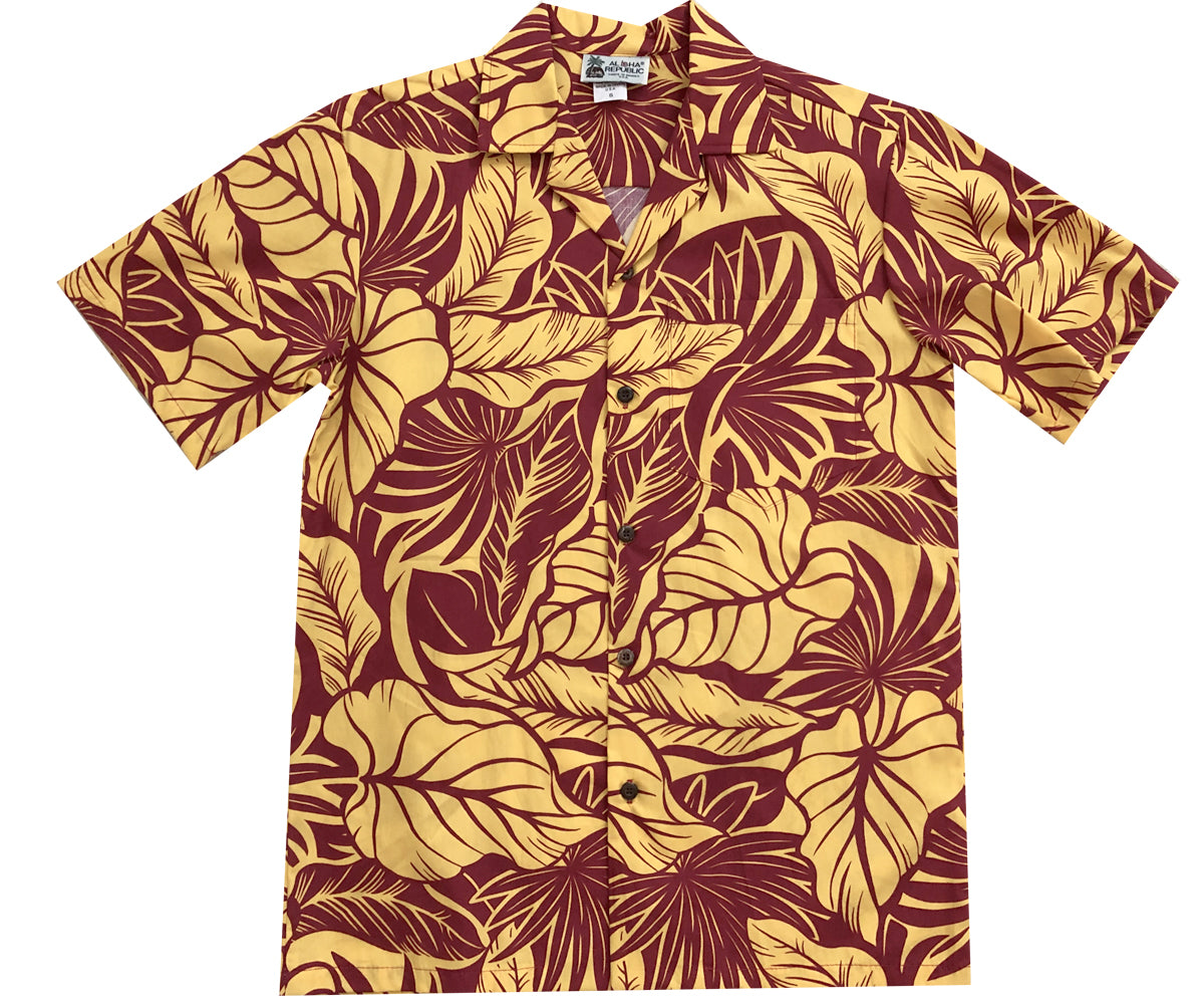 Maui Monarch Yellow Hawaiian Shirt