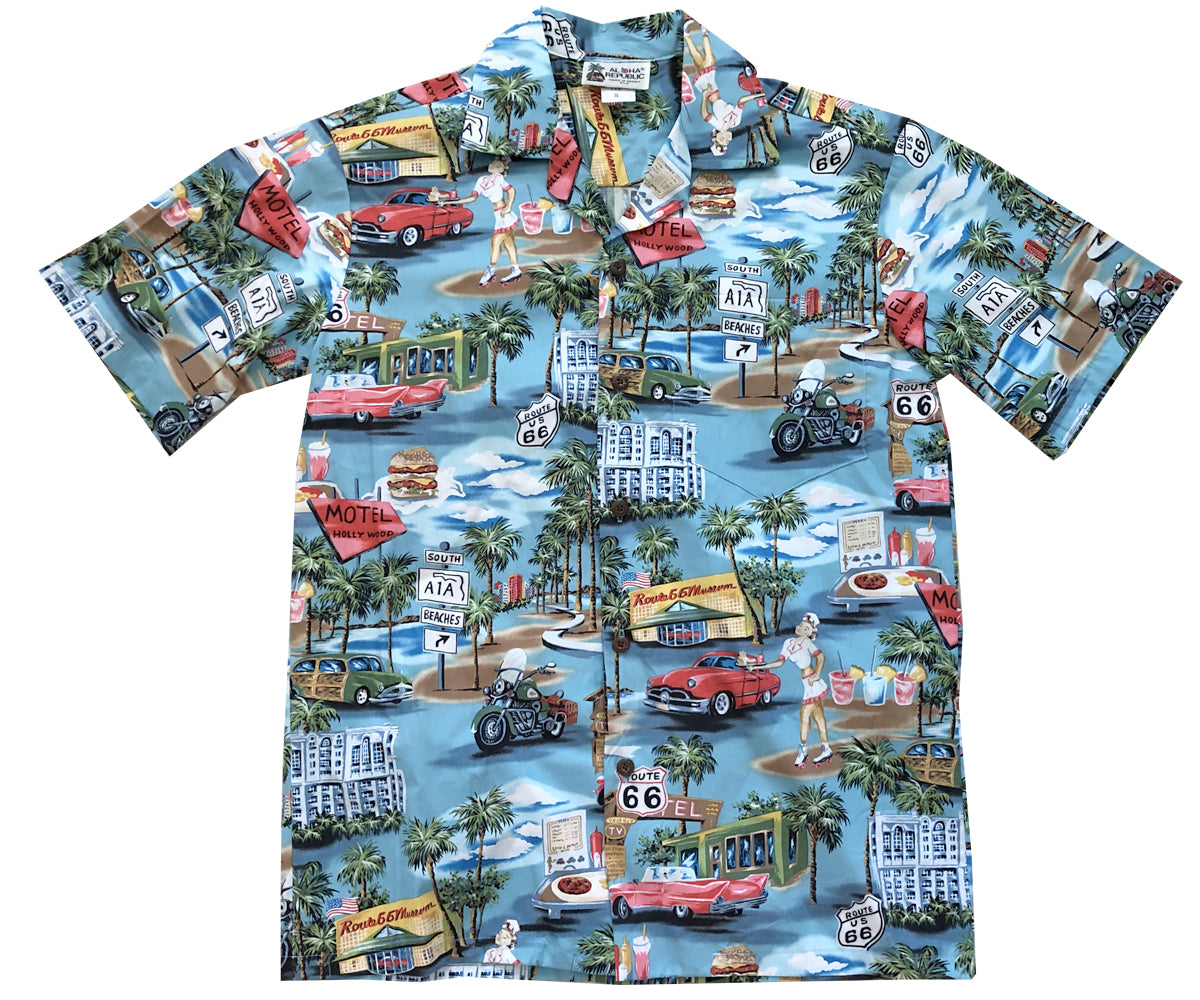 Memories of Route 66 Hawaiian Shirt