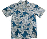 Pineapple Days Denim Hawaiian Shirt