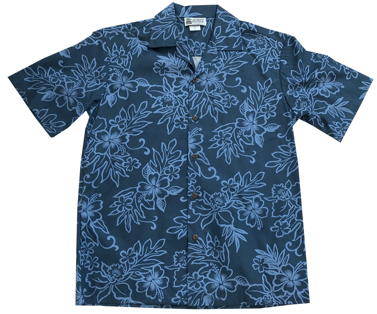 Island Stealth Navy Hawaiian Shirt
