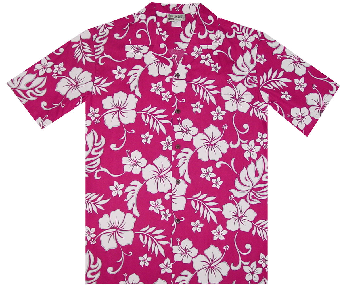 Party Flower Red Hawaiian Shirt