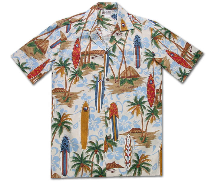 Surfboard Psyche Sand Hawaiian Shirt