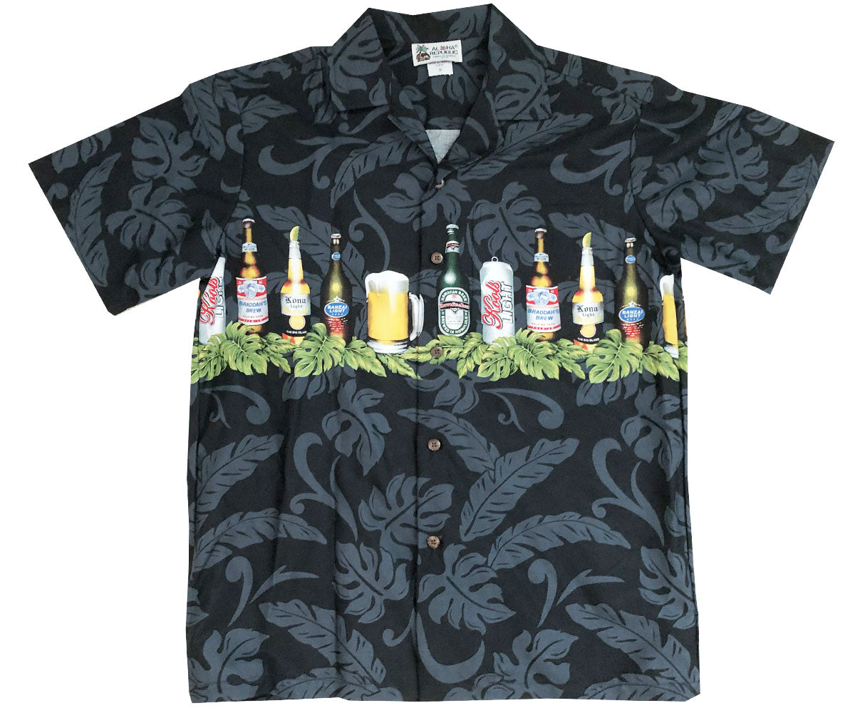 I Like Beer Black Hawaiian Shirt