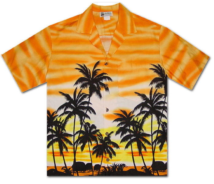 Burning Sky Orange Hawaiian Shirt