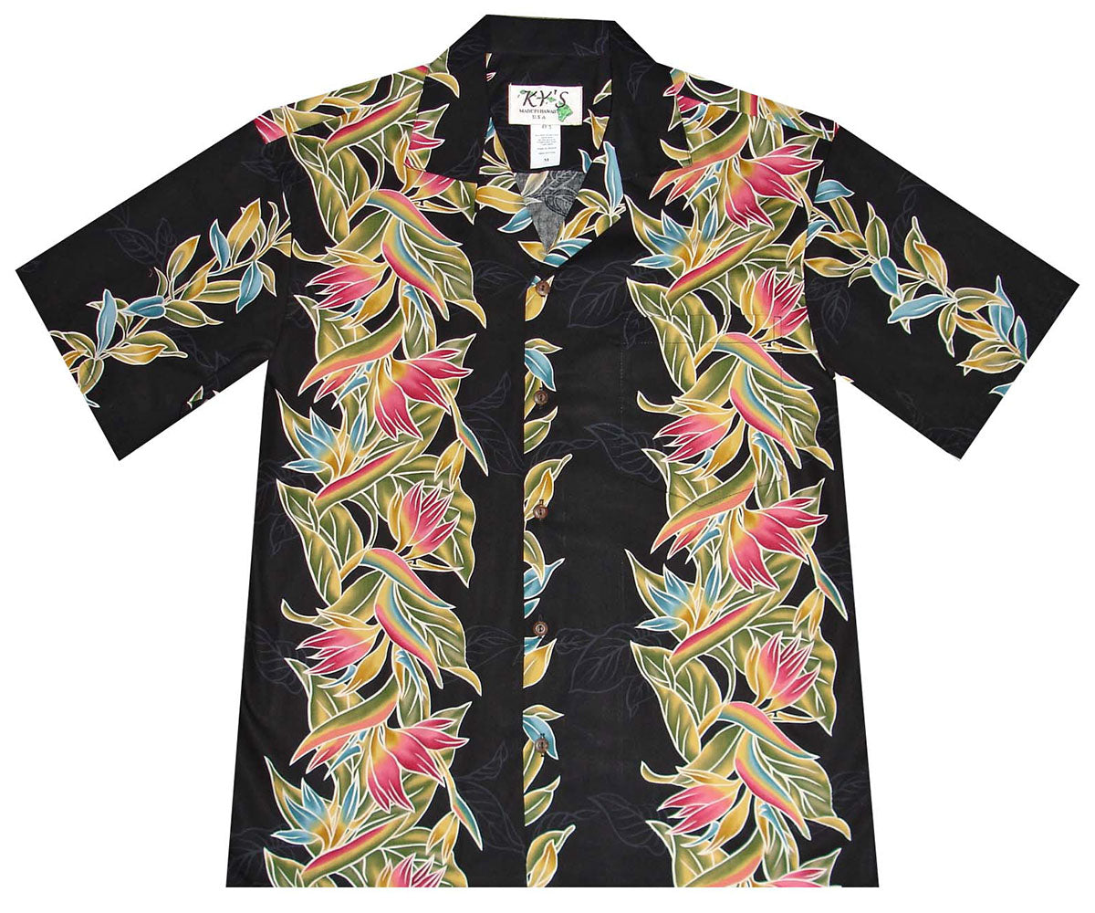 Paradise Vintage Black Hawaiian Shirt