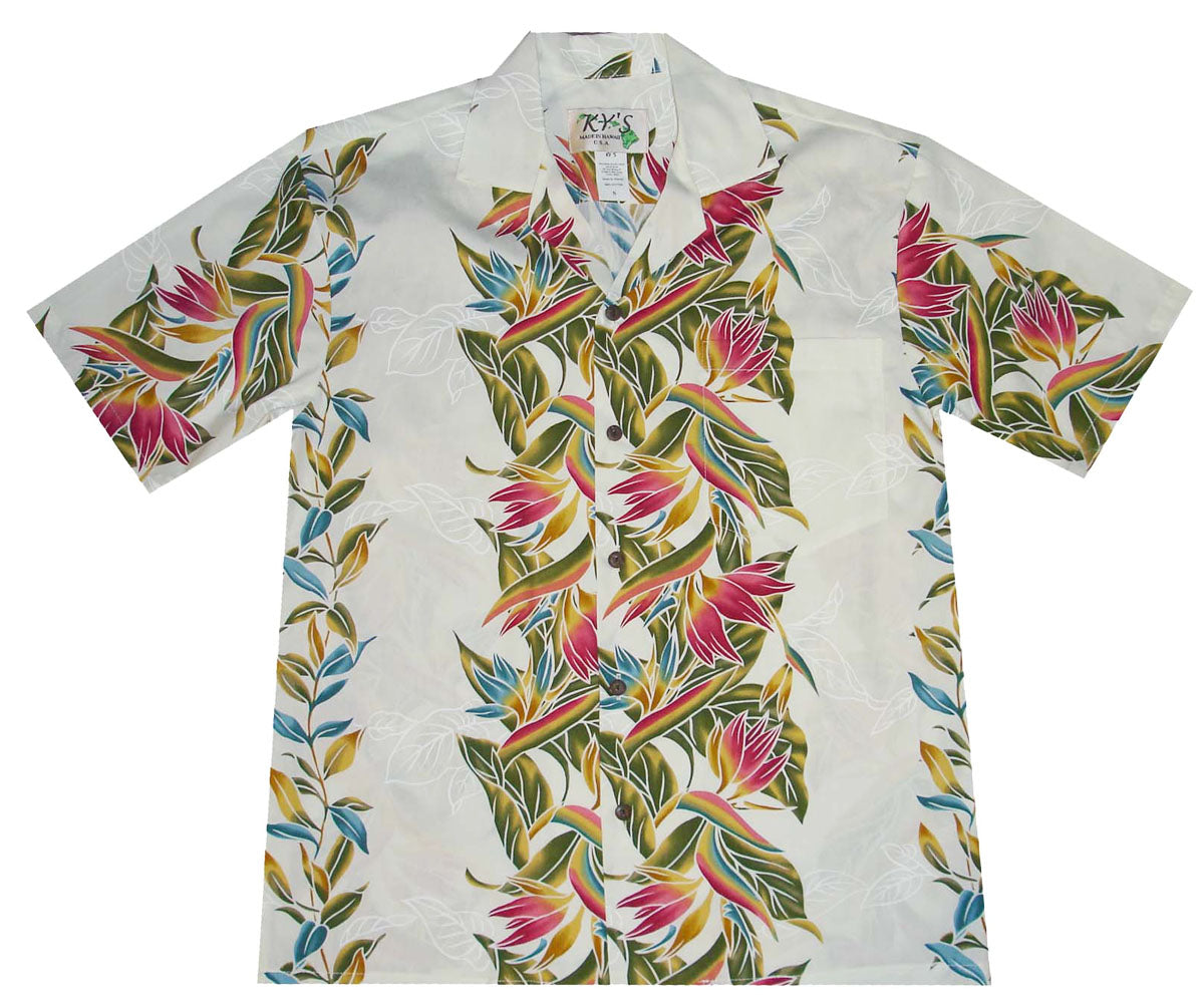 Paradise Vintage White Hawaiian Shirt