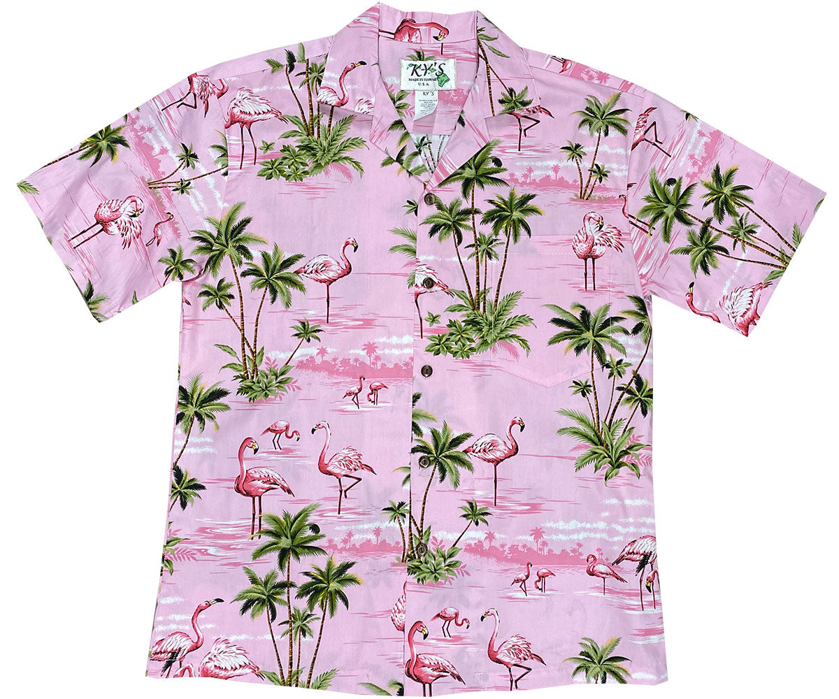 Flamingo Island Pink Hawaiian Shirt
