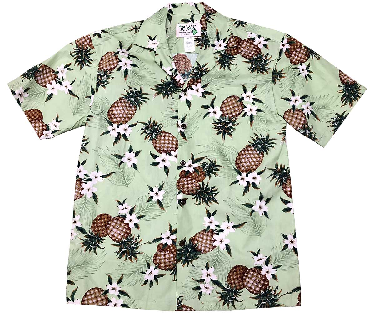 Pineapples Green Hawaiian Shirt