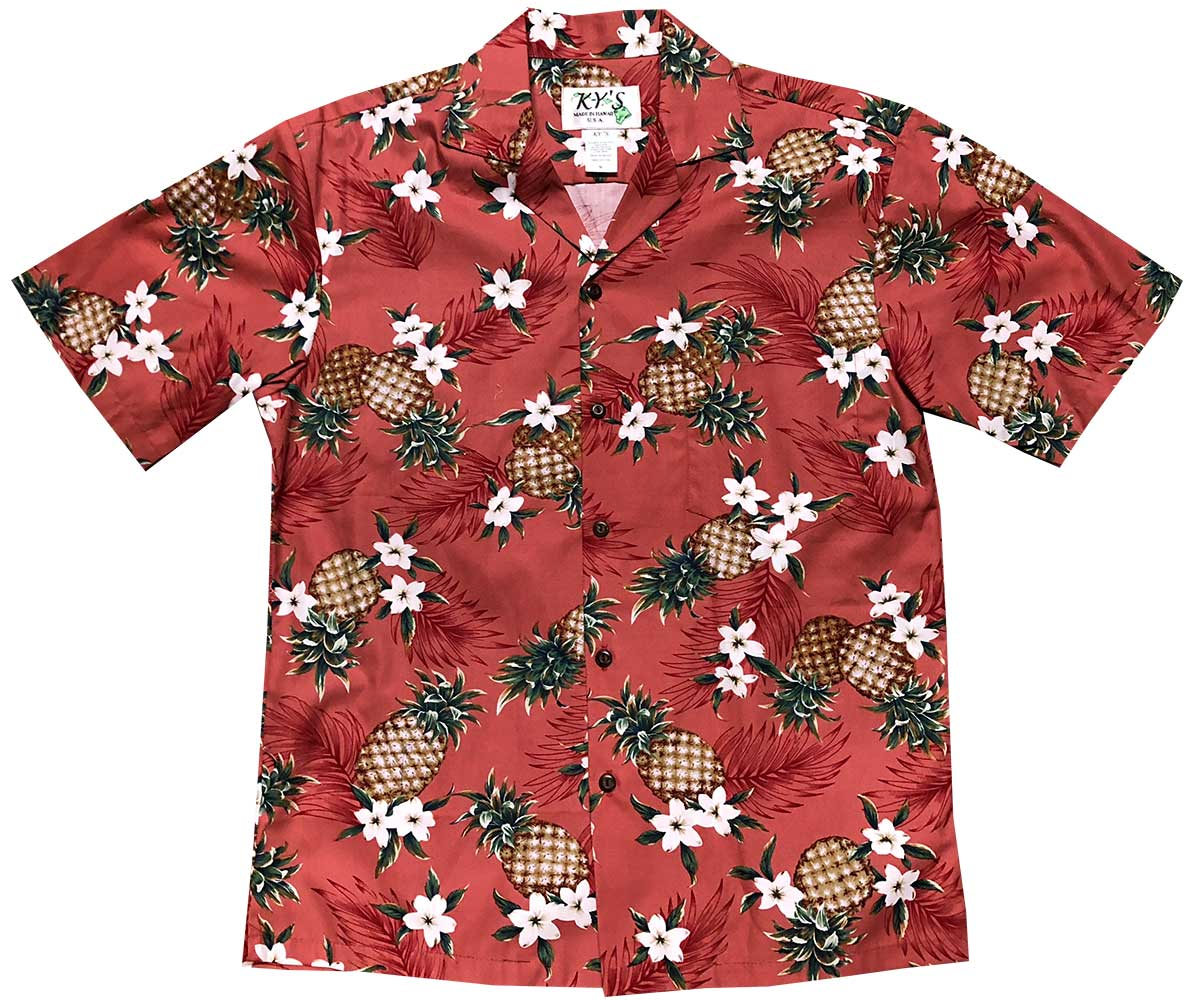 Pineapples Red Hawaiian Shirt