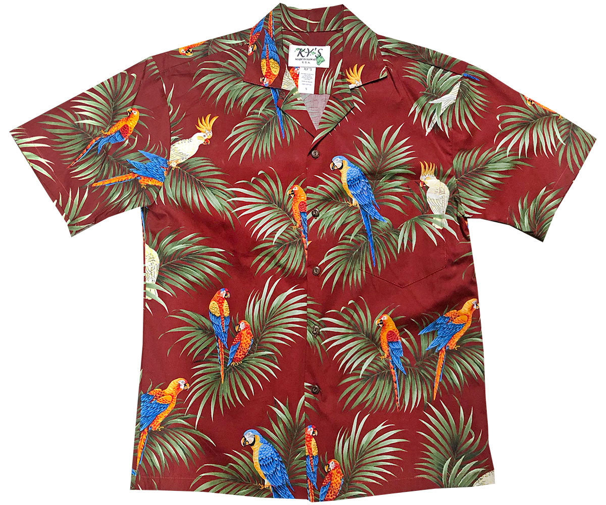 Alert Parrots Red Hawaiian Shirt