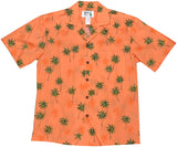 Palm Tree Vision Orange Hawaiian Shirt