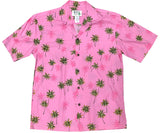 Palm Tree Vision Pink Hawaiian Shirt