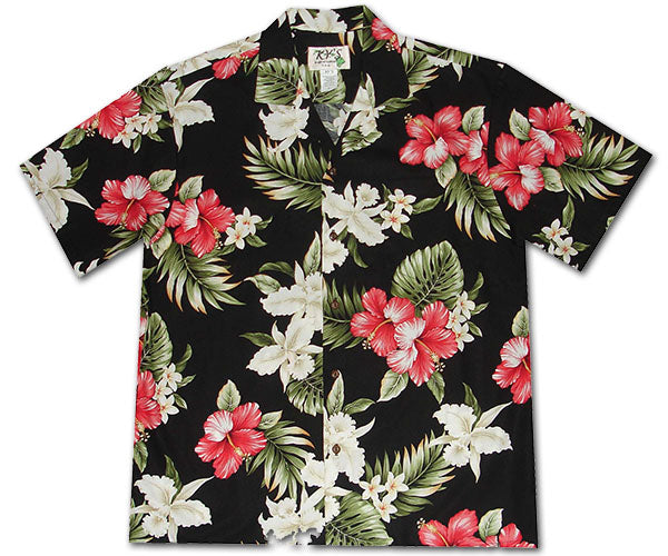 Luau Night Black Hawaiian Shirt