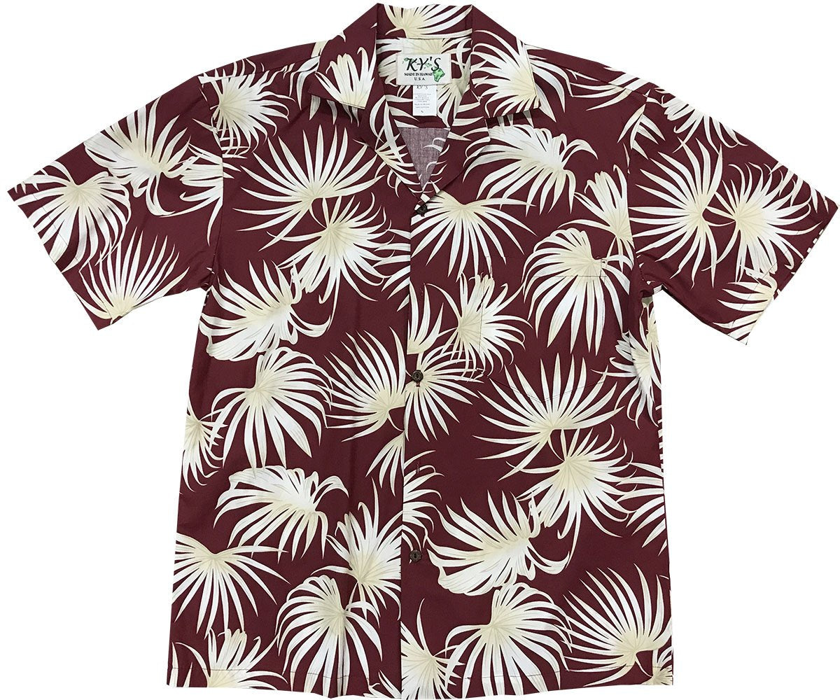 Fern Blast Red Hawaiian Shirt