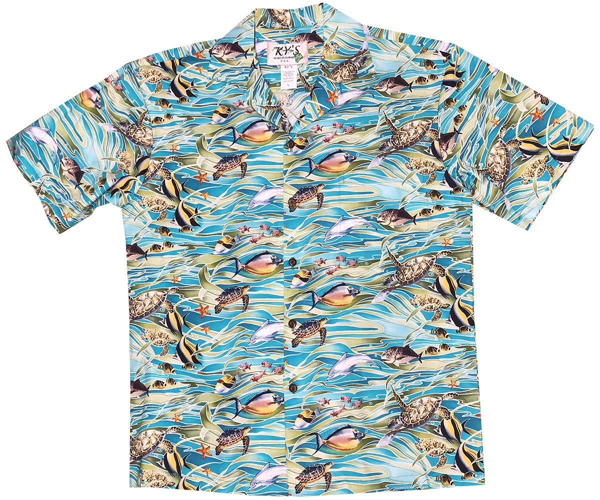 Tropicana Sea Life Blue Hawaiian Shirt
